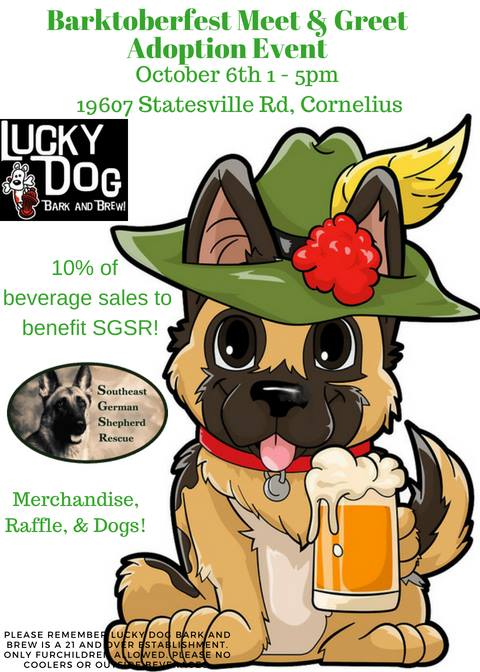 SGSR Barktoberfest @ Lucky Dog Bark and Brew LKN